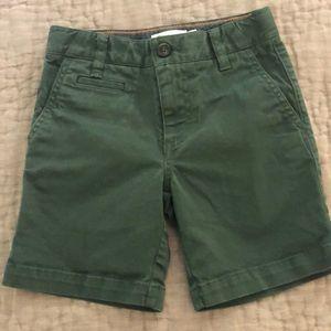 Mini Boden Boys Green Shorts Size 6